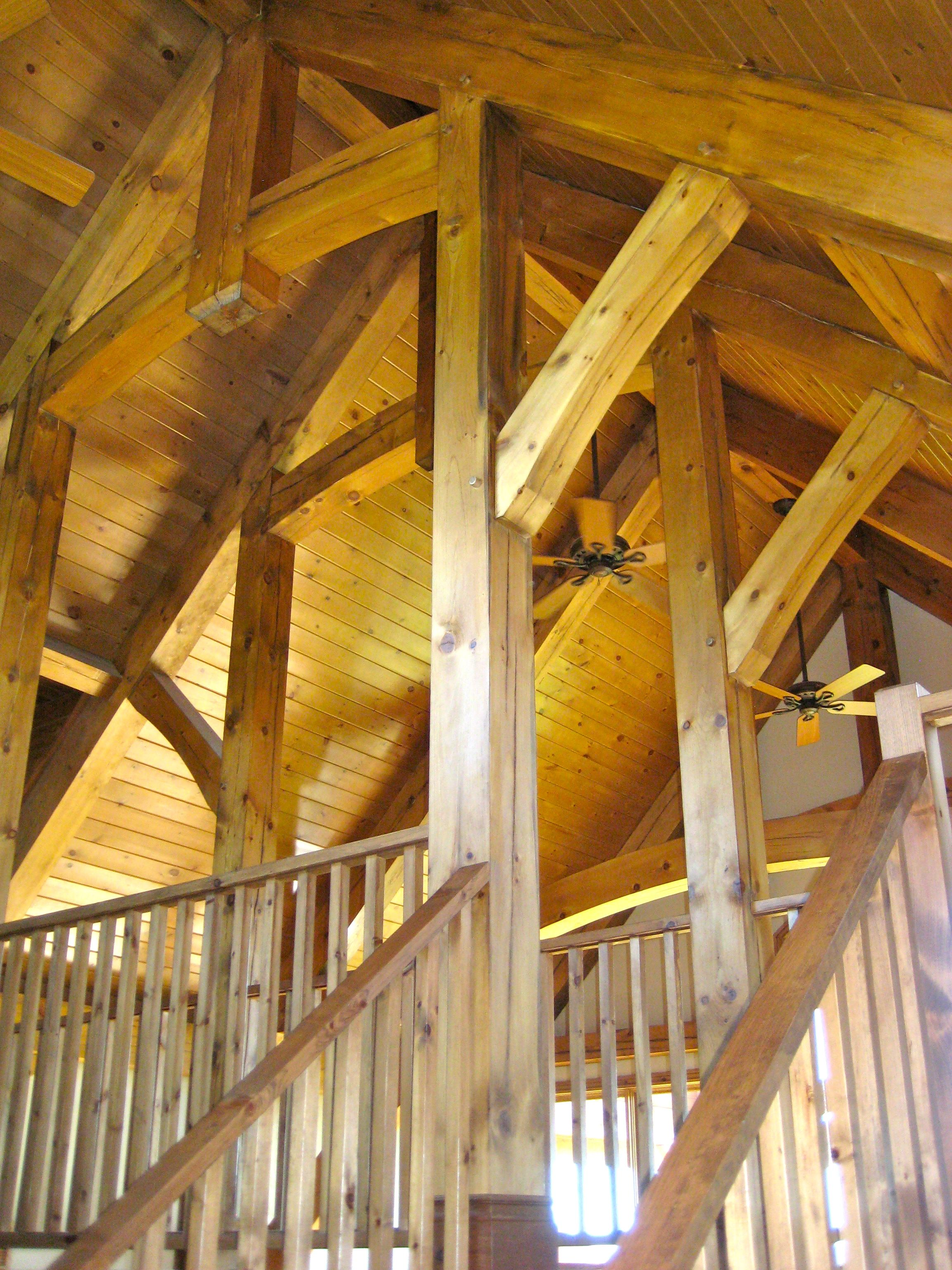 great timber frame ceiling custom homes and cottages by integrity rh pinterest com