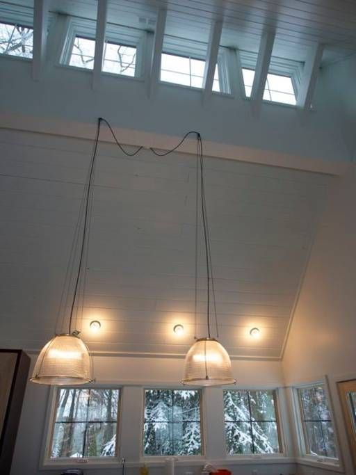 Vaulted ceiling in kitchen, dining, living room Hygge Stay