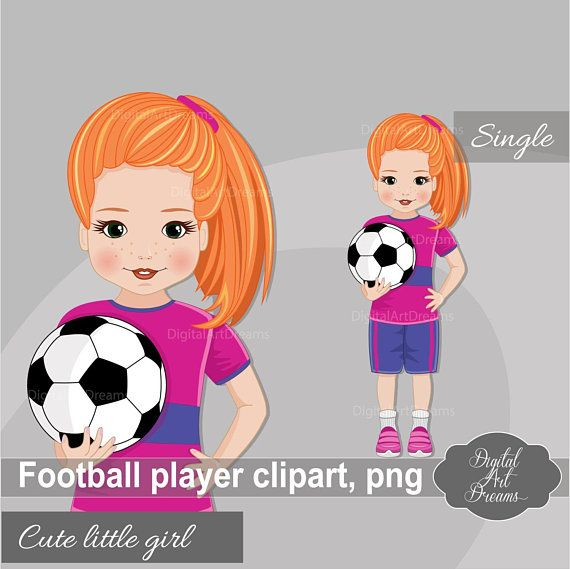 soccer girl clipart sports graphics cute character school rh pinterest com