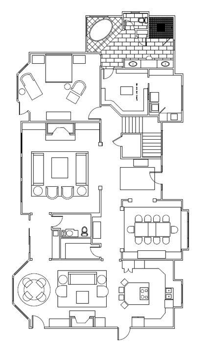 Interior Design Blueprint   Lounge Sofa