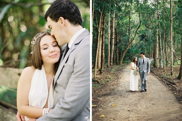 Boho rainforest bride. photo by Byron Loves Fawn.
