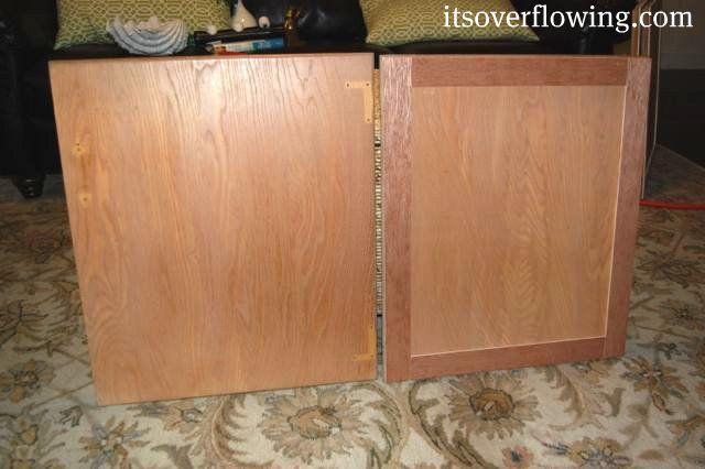 Flat Kitchen Cabinet Doors Makeover Door Makeover Kitchen Cabinet
