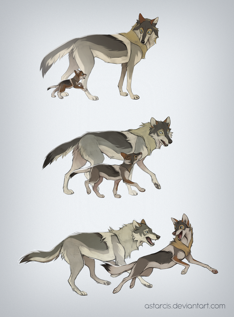 Photo of Snap and Father Wolf by Astarcis