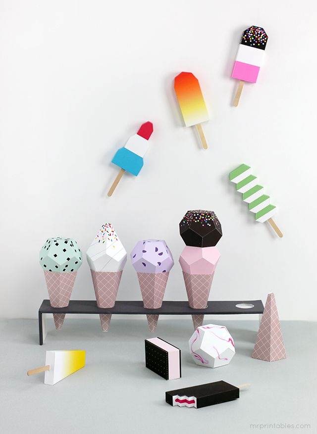 Paper Ice Cream Templates Summer Time Fun For The Boys Paper