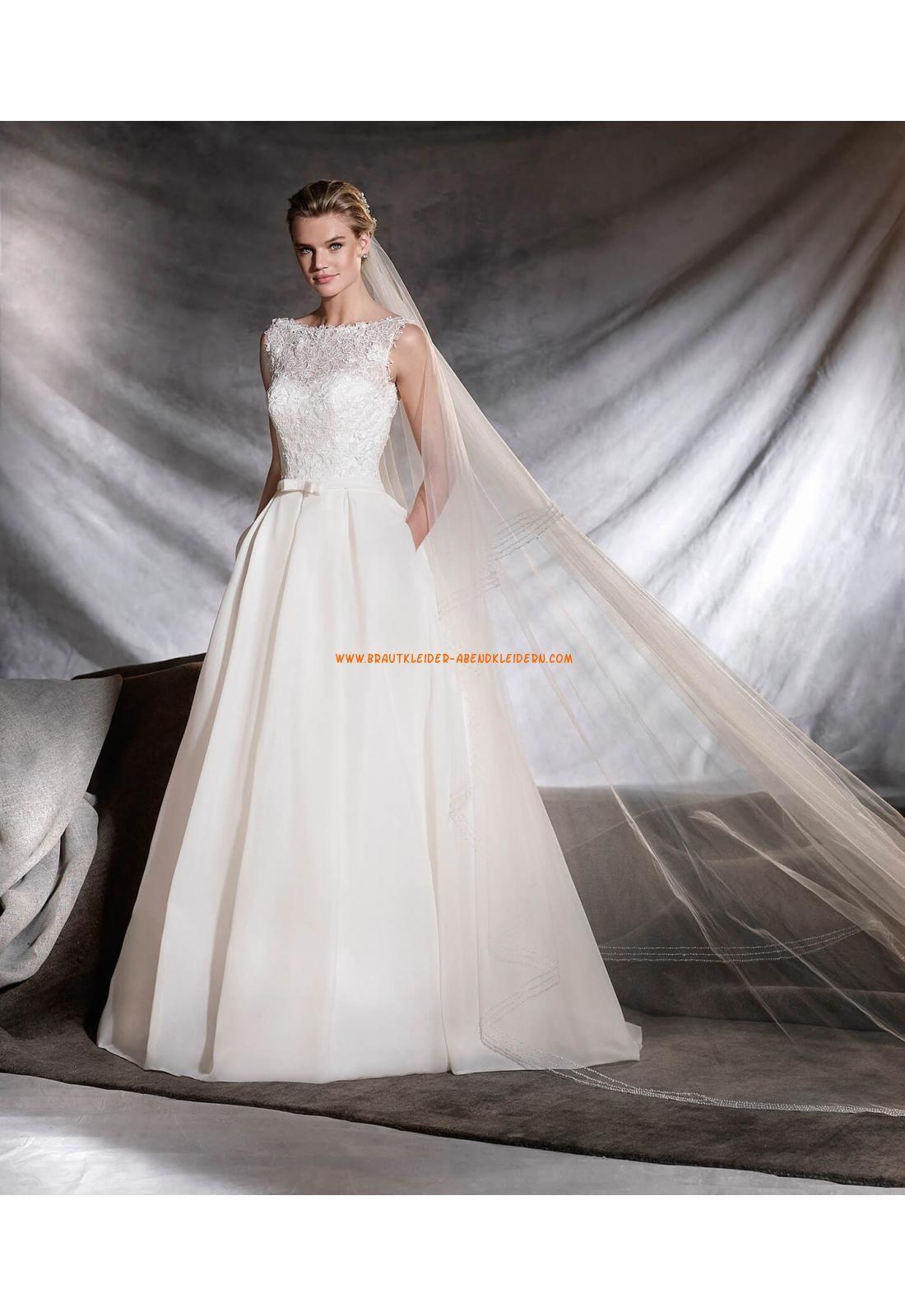 A-linie Exklusive Moderne Brautkleider aus Satin mit Applikation ...
