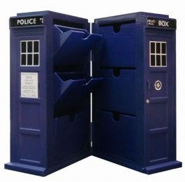 Doctor Who Tardis Desk Storage Case and Free Doctor Who Book