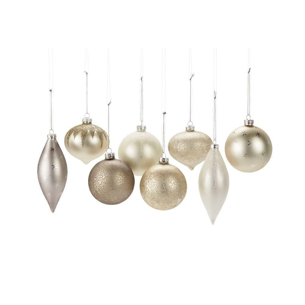 Martha Stewart Living 3 in. to 5.5 in. Grey White Silver Balls and ...