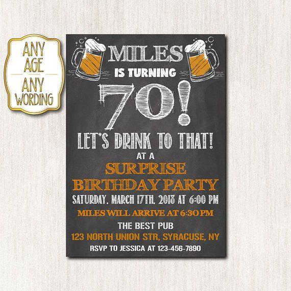 70th birthday invitation surprise birthday invitation adult 70th birthday invitation surprise birthday invitation filmwisefo