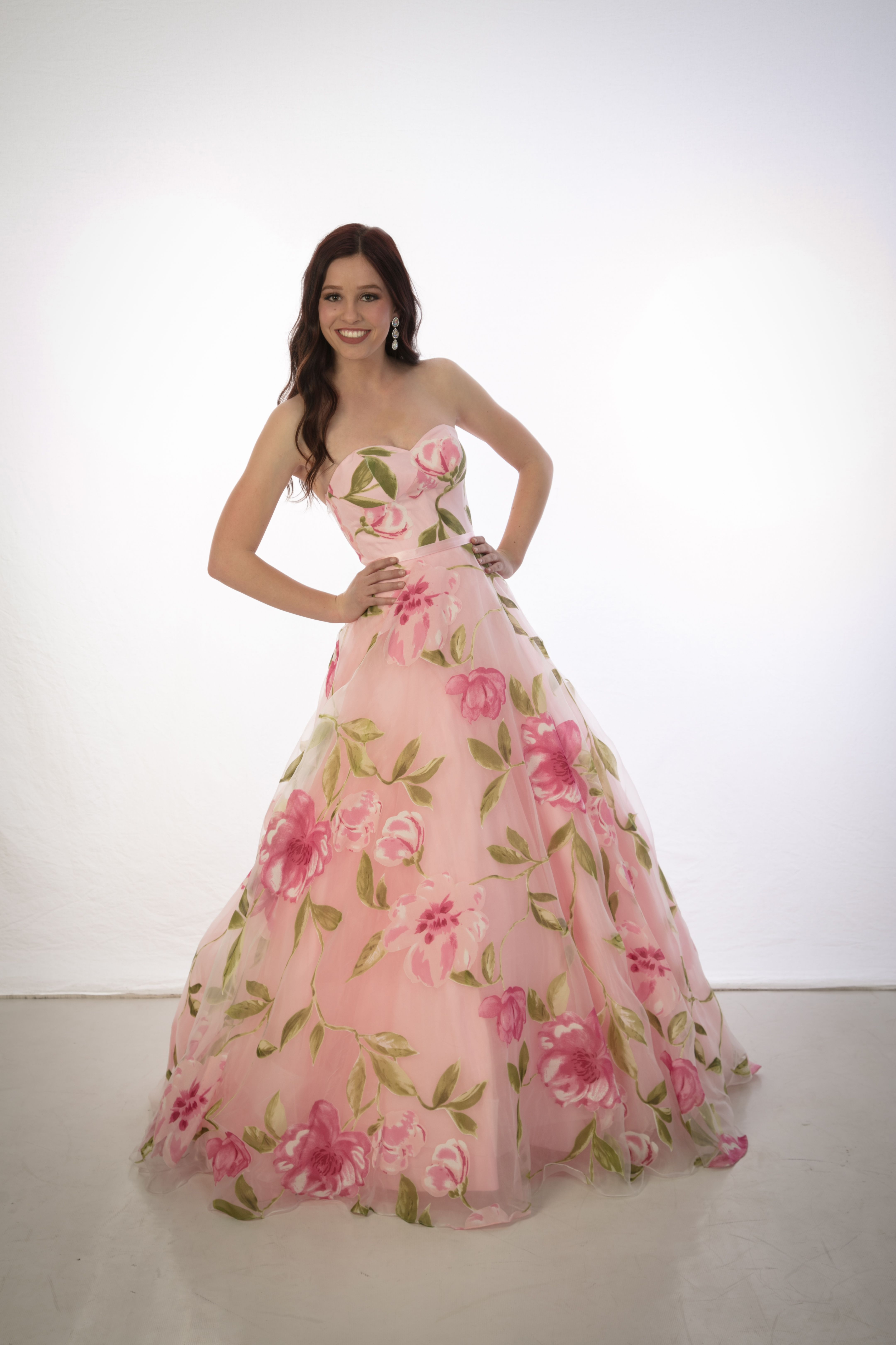 Floral print ball gown prom dress dresses pinterest ball gown
