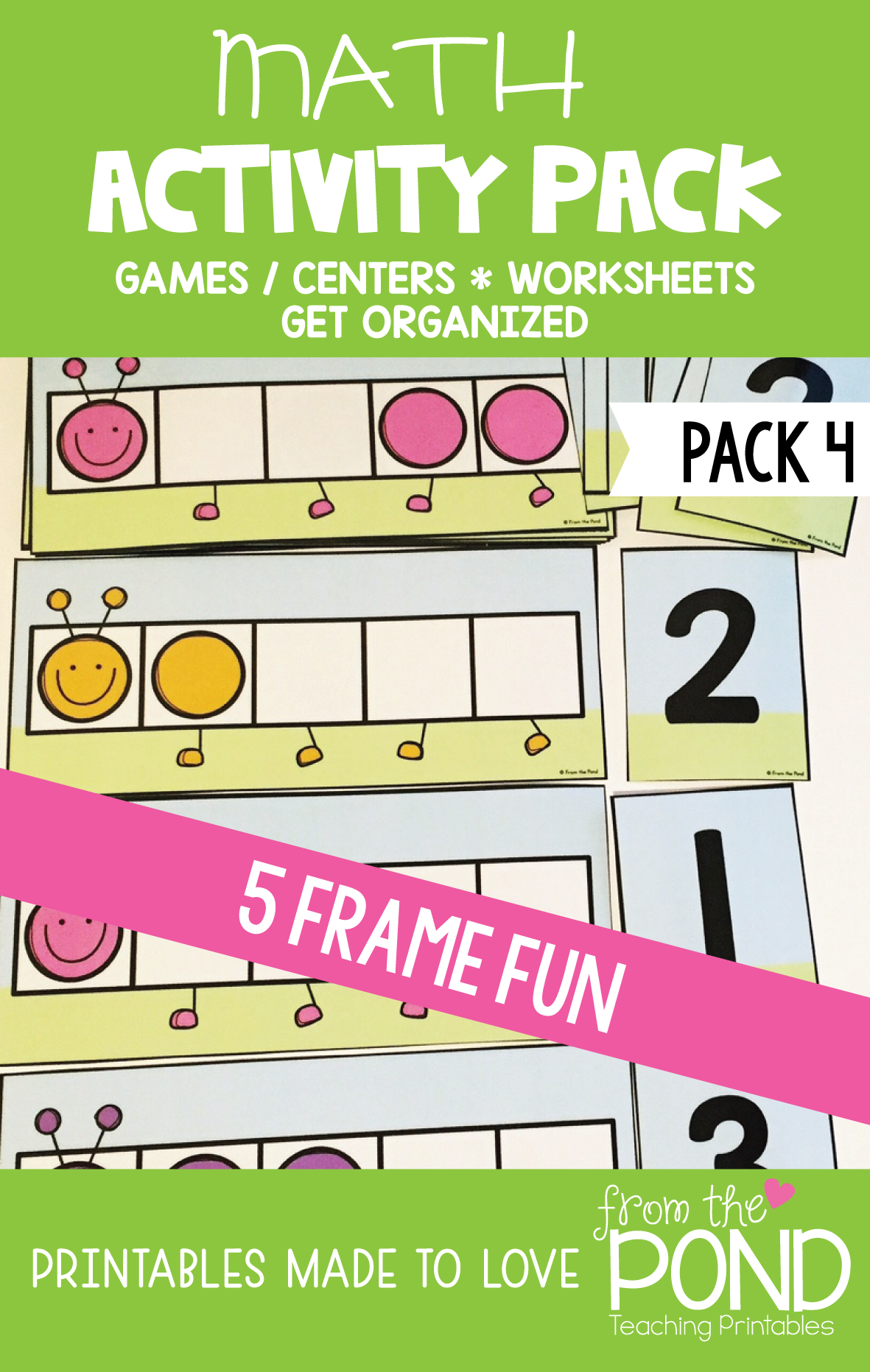 Math Centers, Activities and Games Pack {5 Frames}   Pinterest ...