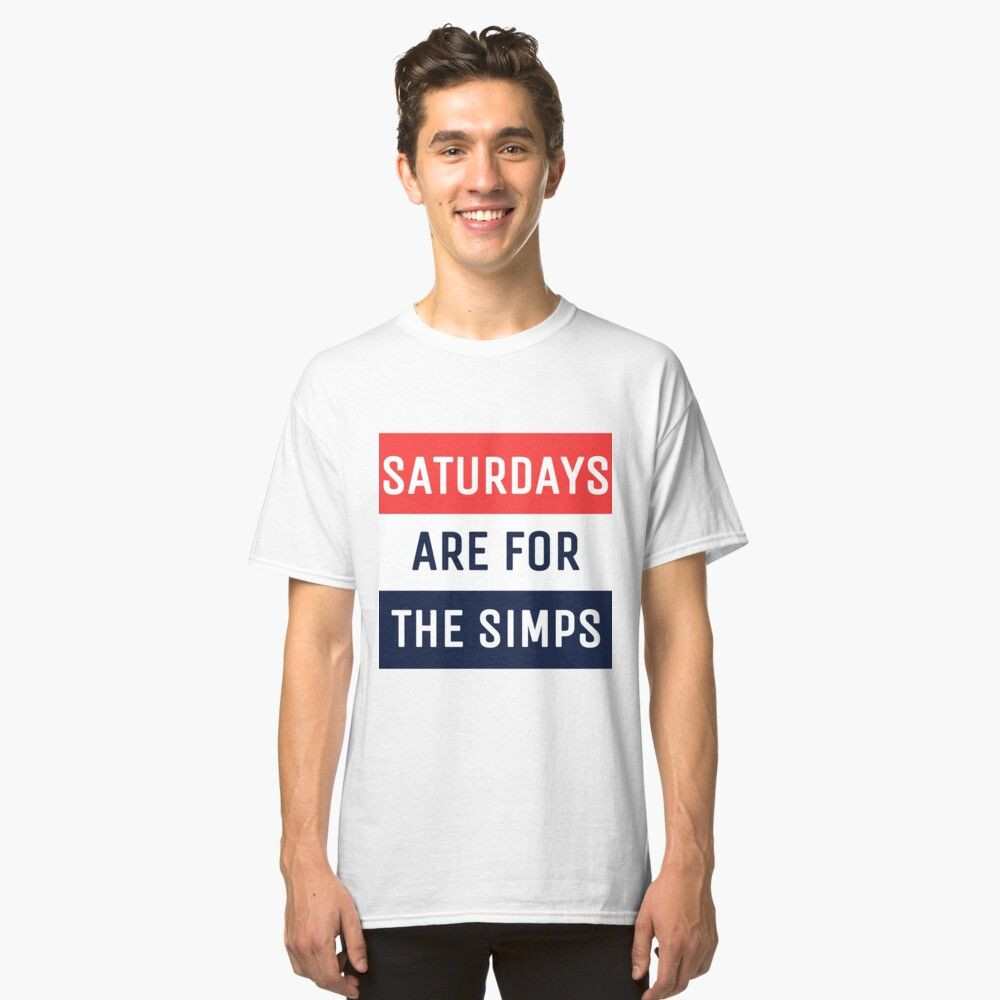 Saturdays Are For The Simps Colorblocking Classic T Shirt By Redbubbleuser16 Classic T Shirts Shirts T Shirt [ 1000 x 1000 Pixel ]
