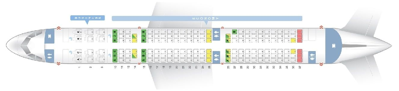 Seat Map And Seating Chart Airbus A321 200 V1 171 Seats Asiana Airlines Asiana Airlines Airbus Airlines