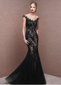 Trumpet/Mermaid Scoop Neck Floor-Length Lace Evening Dress