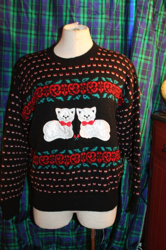 Kitten Christmas Sweater.Jennifer Adams Cat Kitten Ugly Christmas Sweater By