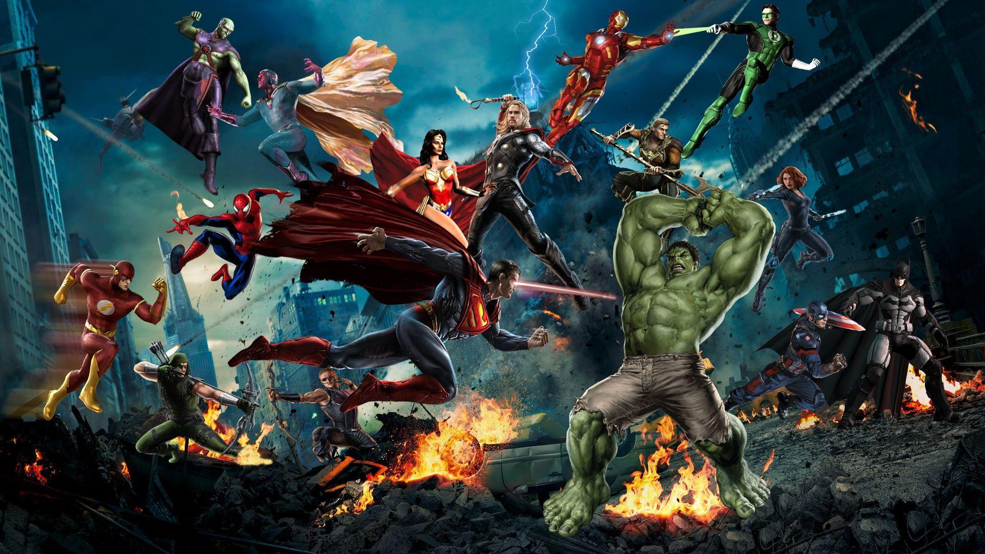 Avengers Vs Justice League Which Superhero Team Will Win The Fight Avengers Vs Justice League Marvel Vs Marvel Vs Dc