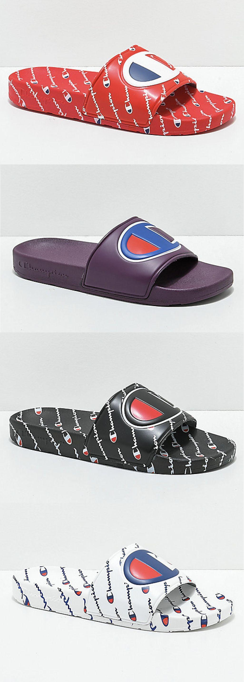 Champion Slides Champion Shoes Champion Sneakers Styling Jordans [ 2862 x 1026 Pixel ]