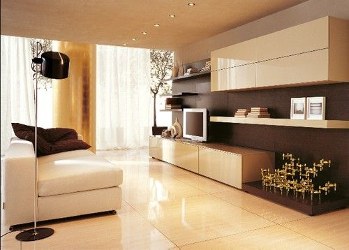 inspiration vardagsrum modernt italienskt minimalistiskt vägghängd ...