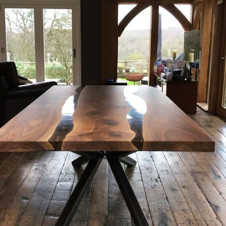 Photo of Earthy Tones Wood Dining Table by Earthy Timber