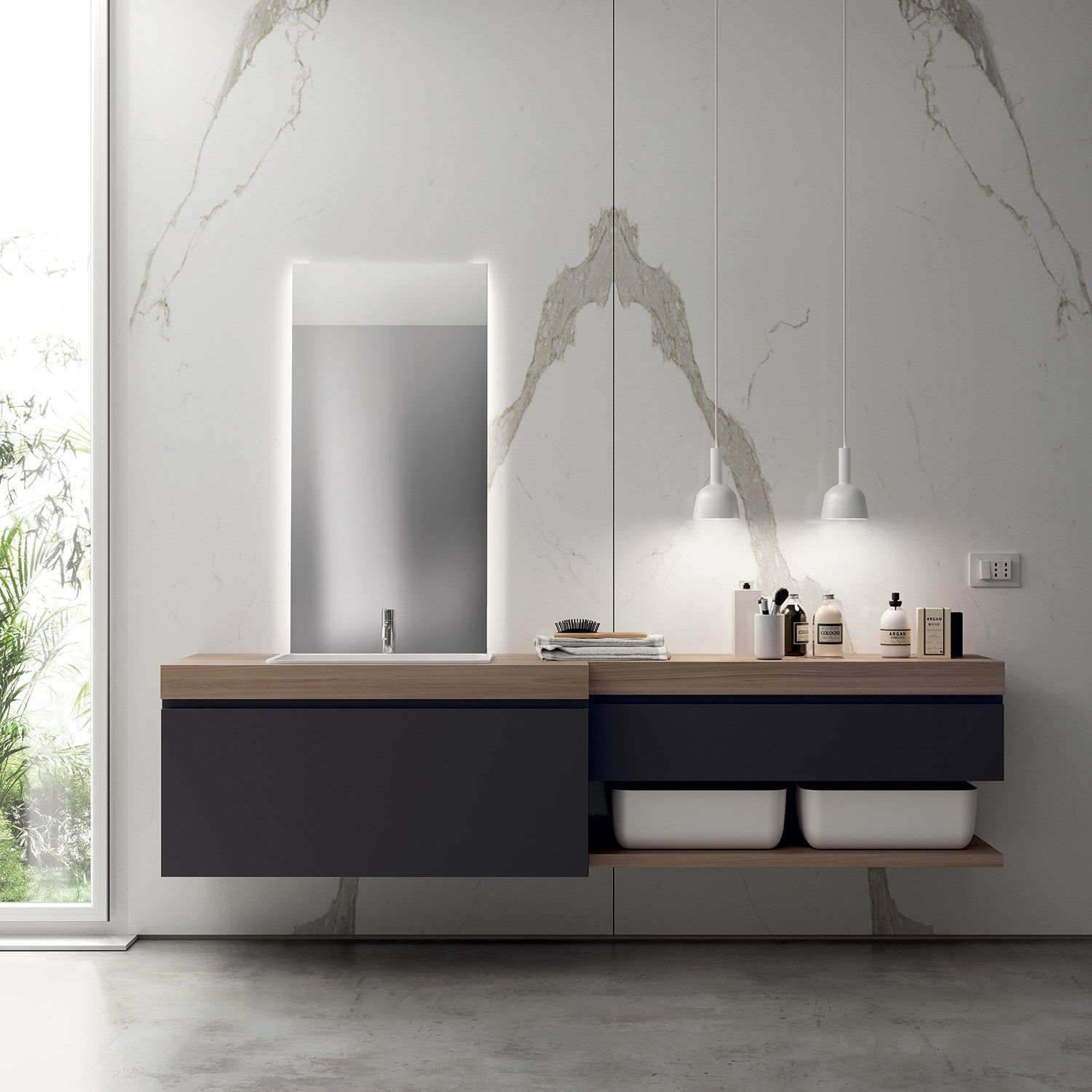 Bathroom furniture set KI by Scavolini Bathrooms design Nendo
