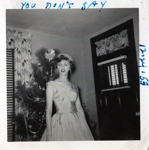 Vintage Photo..Christmas Queen 1950's by iloveyoumorephotos