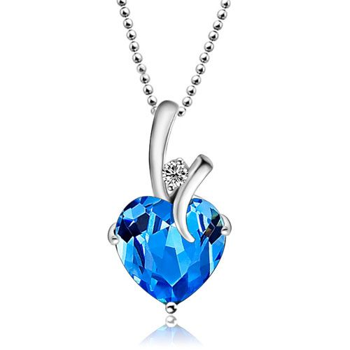 Pin On Blue Crystal Necklace