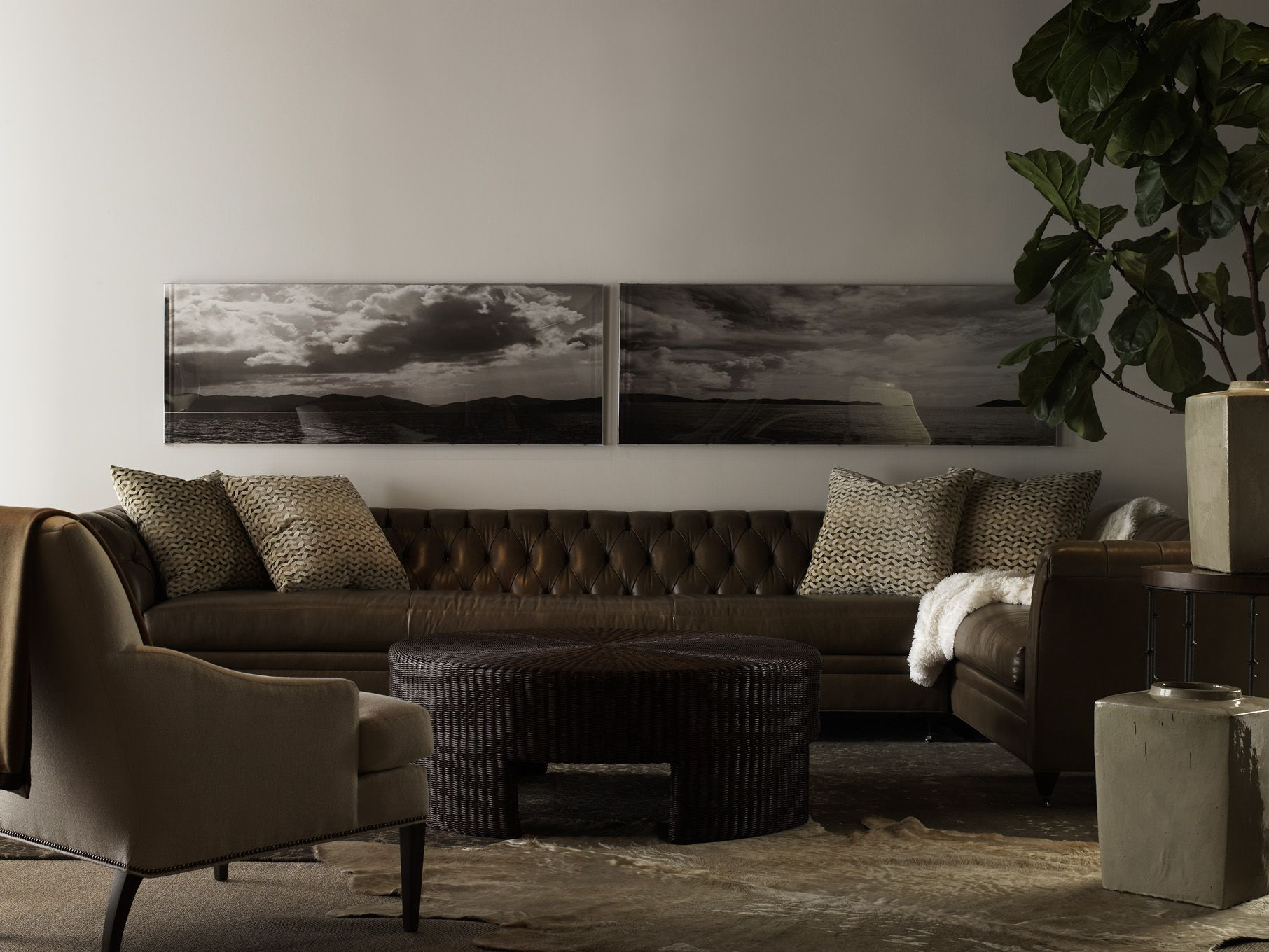Marquette M2Mtm Sectional With Exposed Legs, Maud Chair With Tapered