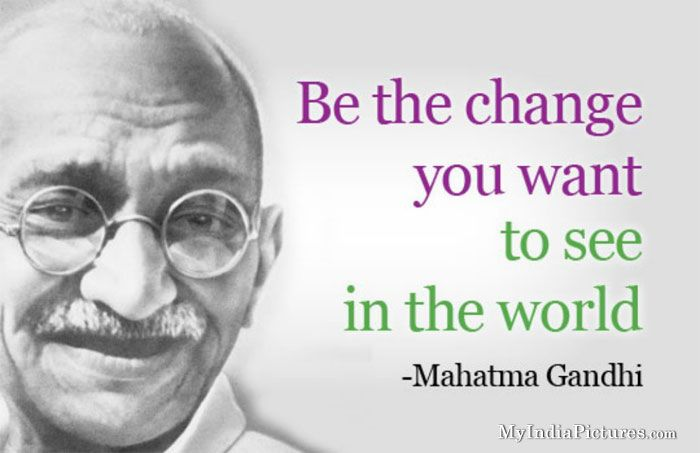 Image result for inspiring quote mahatma gandhi