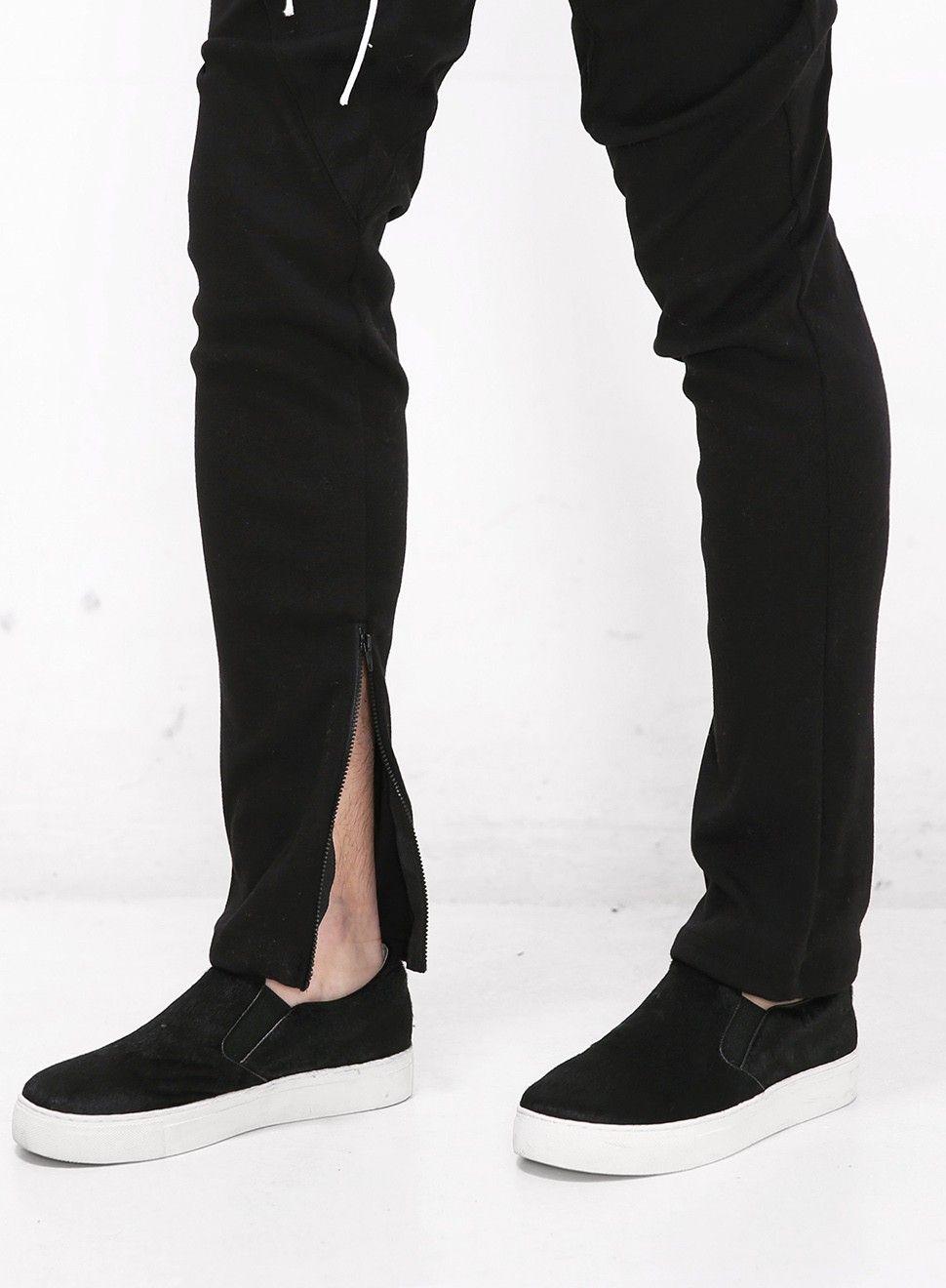 Mens Ankle Zipped Drawstring Trouser Jogger at Fabrixquare