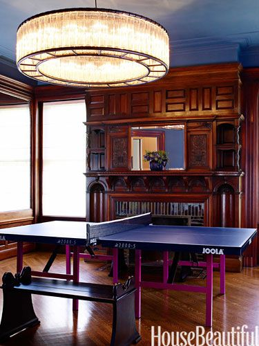 An Ornate Victorian Gets An Update  Ping Pong Table Benjamin Gorgeous Dining Room Ping Pong Table Design Inspiration