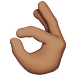 The Ok Hand Medium Skin Tone Emoji On Iemoji Com Medium Dark Skin Tone Skin Tones Colors For Skin Tone
