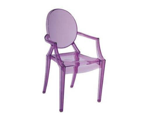 Merveilleux Louis XV Style Purple Ghost Chair