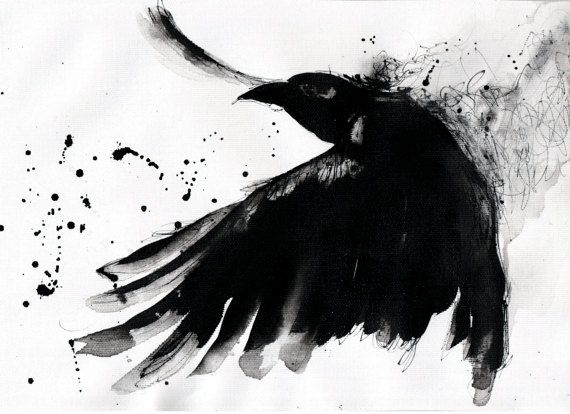 Crow painting - Ink on...