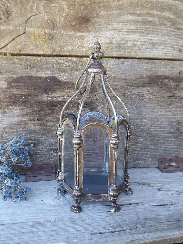 Ornate Intricate Old World Metal Candle Lantern Oil Rubbed Bronze Patina  Silver #Unbranded · Kerosene LampUnique ...