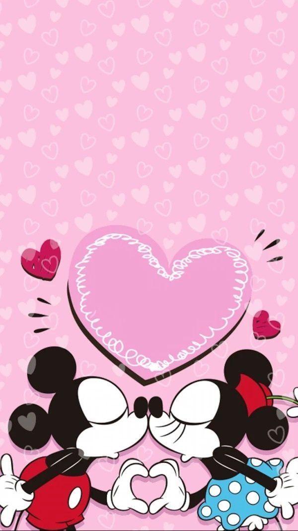 Super Papéis de parede românticos do Mickey e Minnie para celular  EO42