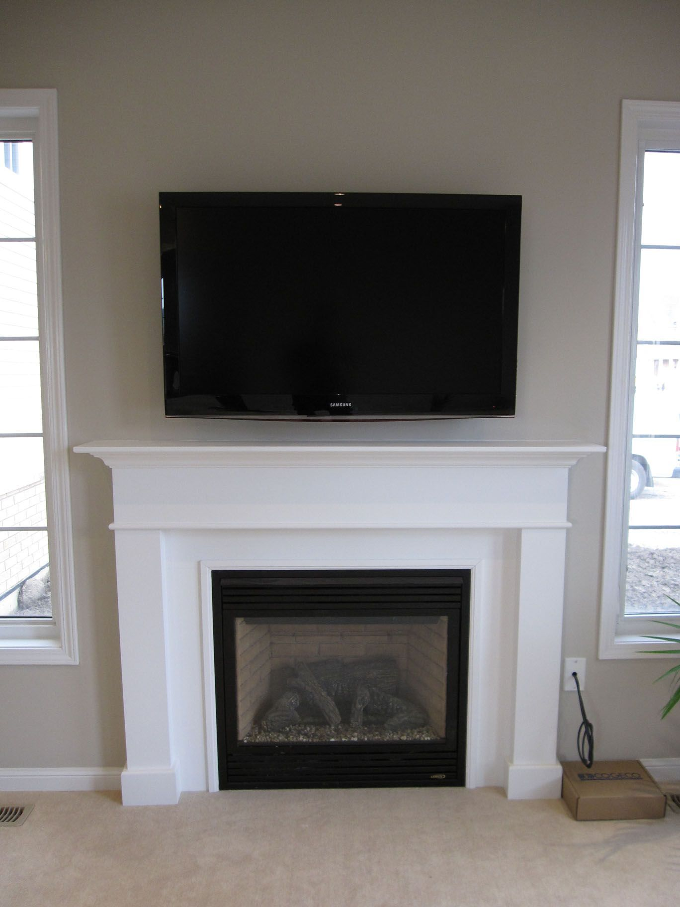 Tv wall ideas with fireplace design also rh pinterest