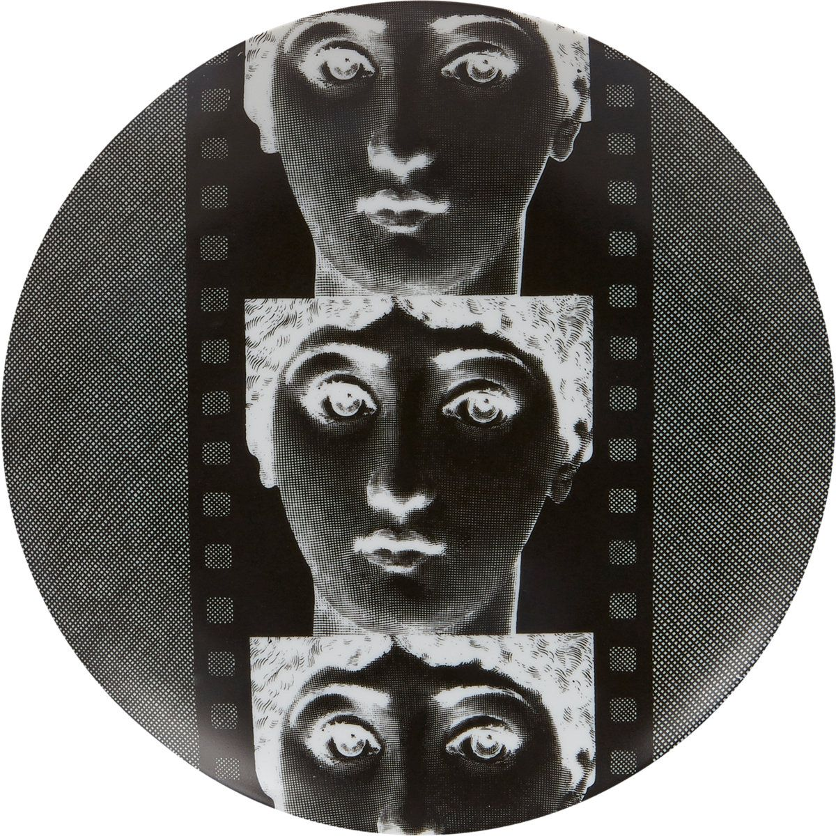 """Fornasetti """"Faces On Film"""" Plate at Barneys.com"""