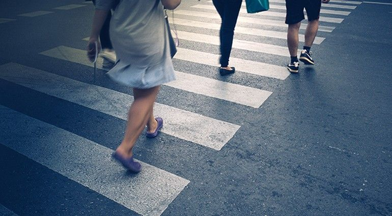 Crossing Pedestrian accident, Car accident lawyer