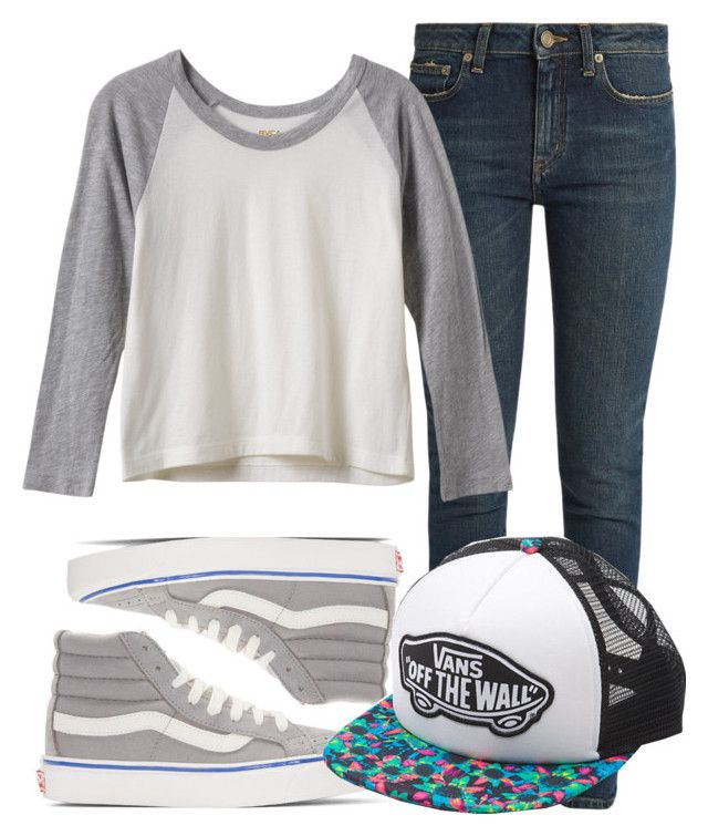 """""""Me"""" by themysteriousmultifandomgirl ❤ liked on Polyvore featuring Vans, Yves Saint Laurent and RVCA"""