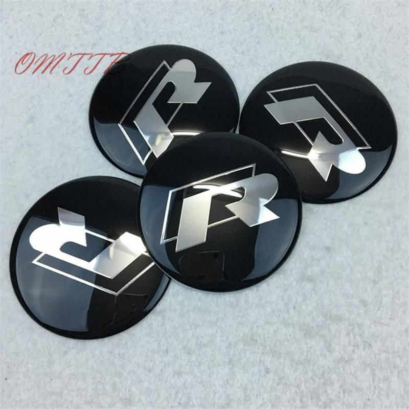 65mm Hub Cap Stickers For BBS JDM EURO GERMAN ETC Wheel Center Mag Rim Hubcap Emblem Logo Sticker PLEASE MEASURE Before Purchase for Best Fitment RED SILVER 2.55 inch RENGVO Pack of 4