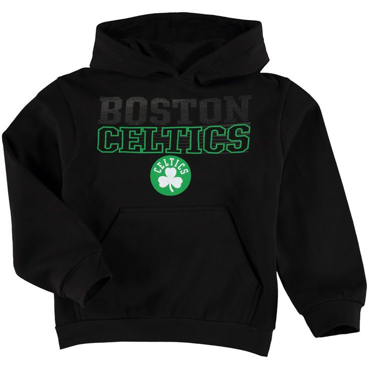 Boston Celtics Majestic Youth Playmaker Pop Pullover Hoodie - Black - $49.99