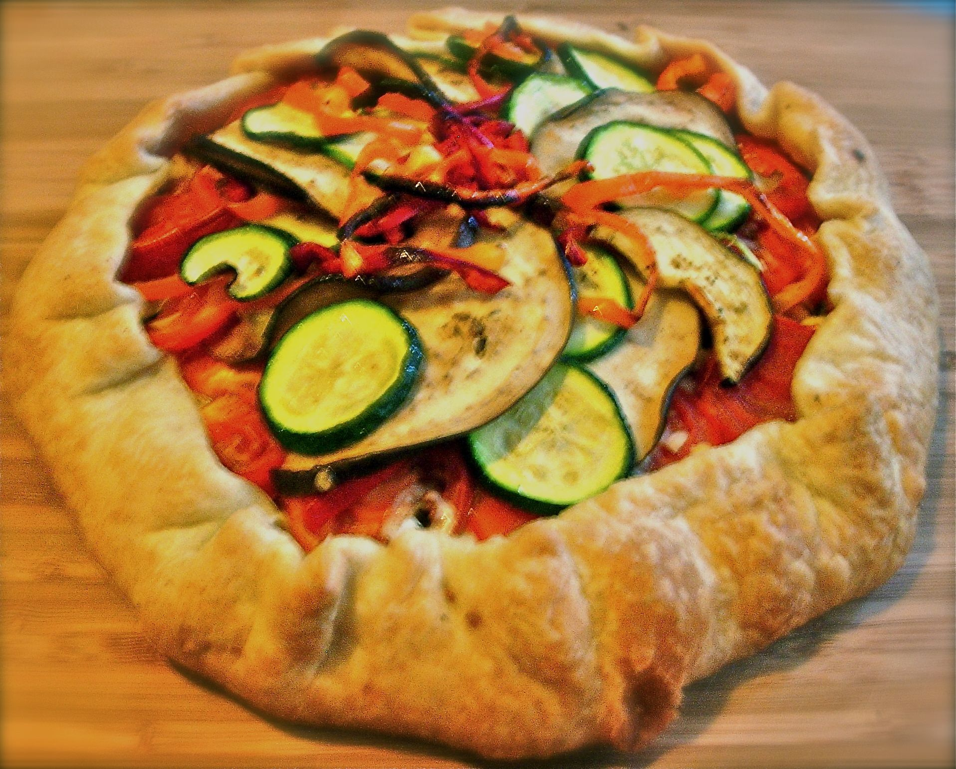 Summer Veggie Tart  Great For Using Up Excess Zucchini