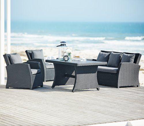 Exceptional Loungeset KARLSHAMN Aluminium/petan | JYSK