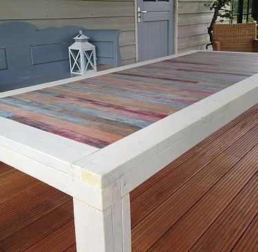 Sloophout tafel 1 voor thuis pinterest sloophout for Sloophout meubels