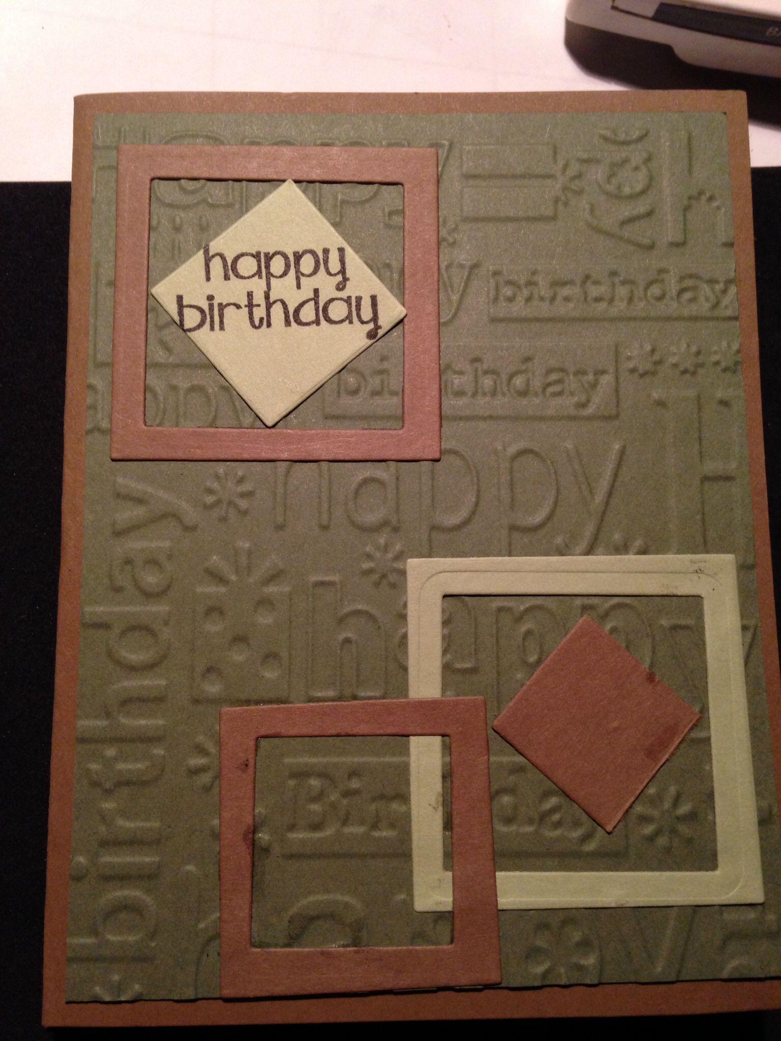 Masculine birthday card   1/12/14