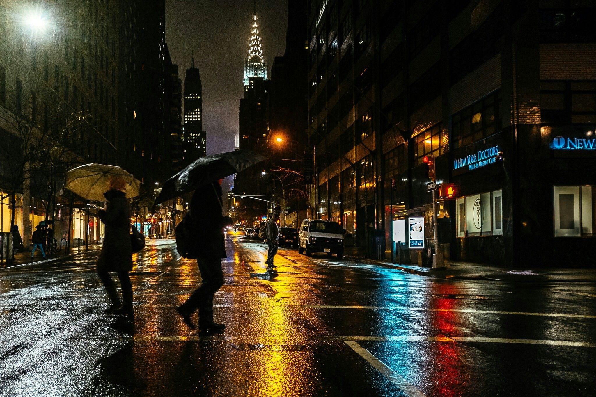 Rainy Night In Nyc City Rain Rainy City City