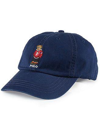 Polo Ralph Lauren Hat, Chino Polo Bear Baseball Cap   MEN MEN MEN ... 5f3257baad2