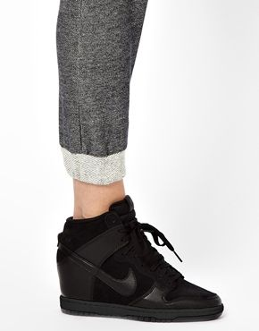 mit Wedge Dunk High TrainersTurnschuhe Black Nike Sky y6f7gb