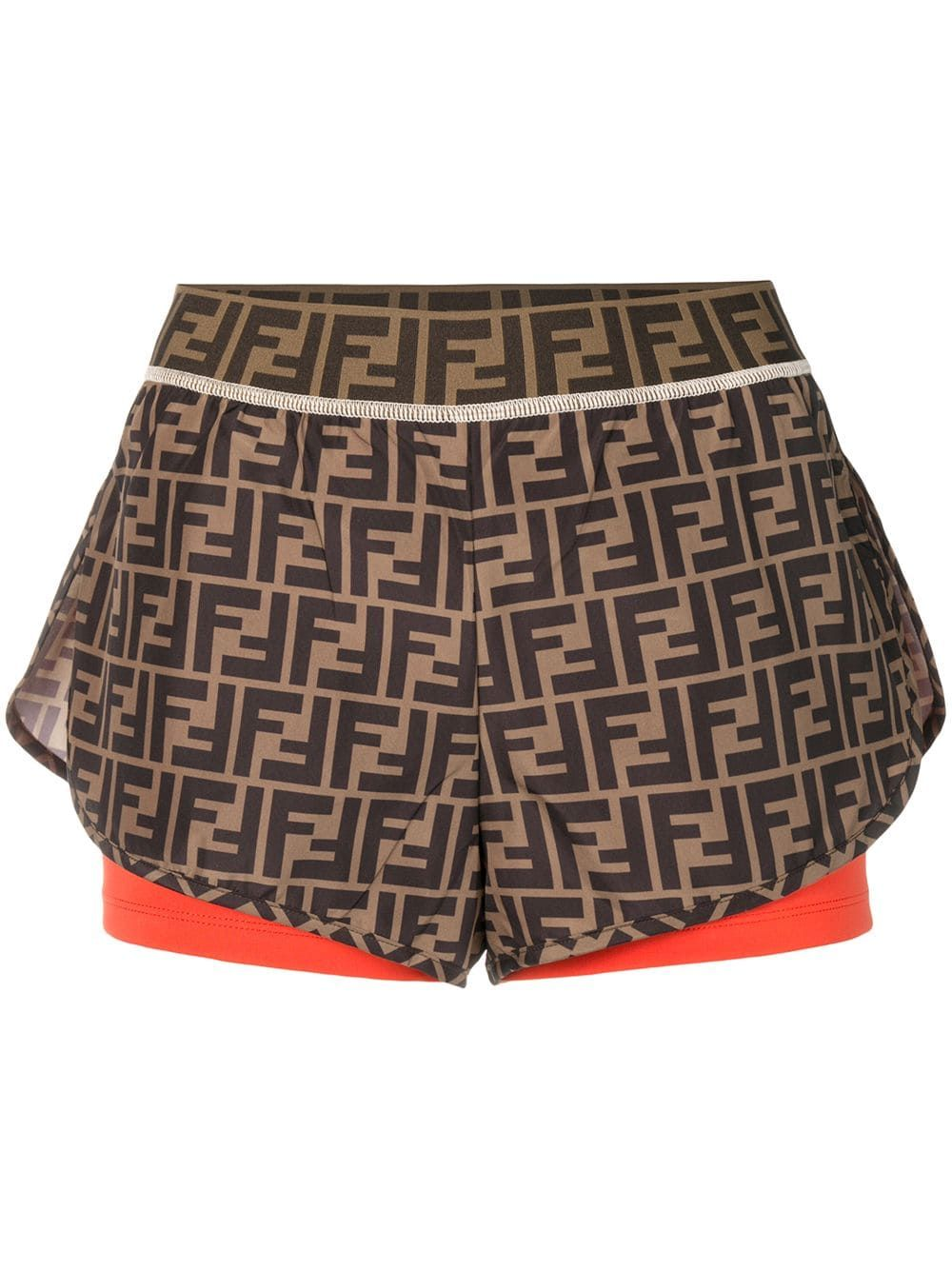 8d880a181b FENDI FENDI LAYERED FF LOGO SHORTS - BROWN. #fendi #cloth | Fendi in ...