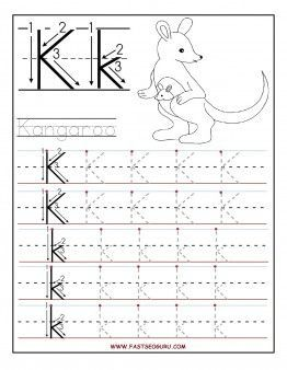 Free Printable letter K tracing worksheets for preschool.Free ...