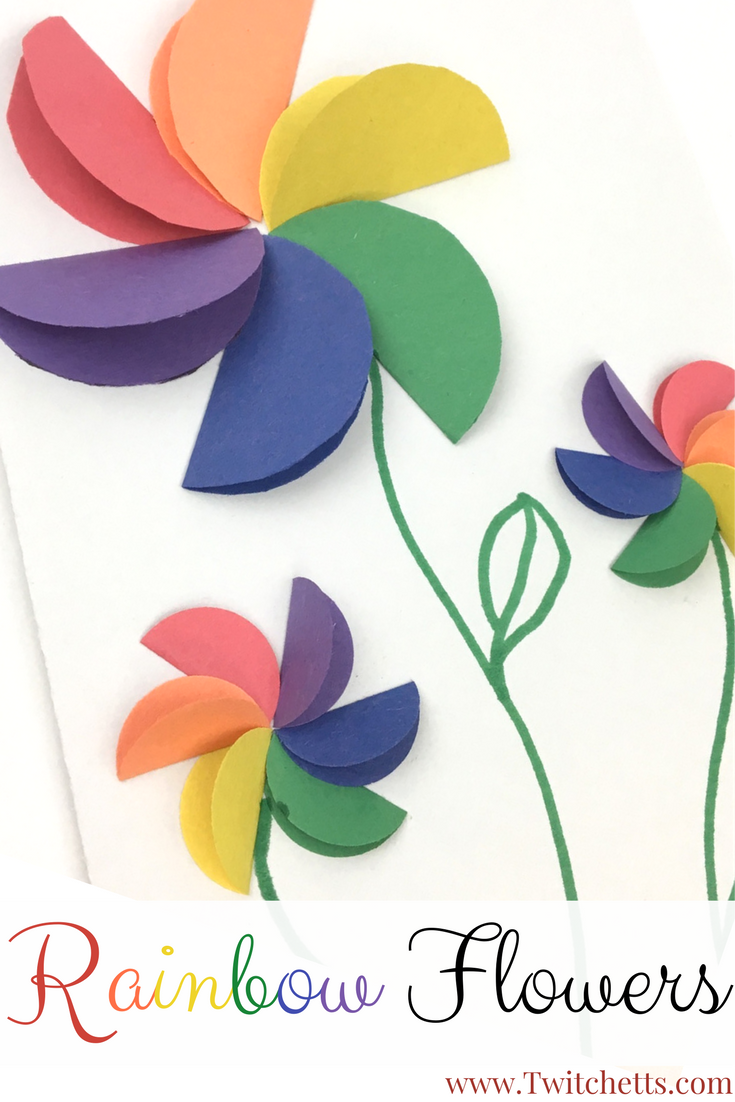 How To Make Easy Rainbow Paper Flowers For Kids Pinterest